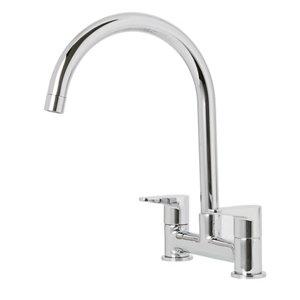 Image of Cooke & Lewis Gordale Chrome effect Kitchen Bridge mixer Mixer tap