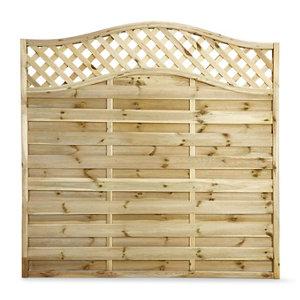 Image of Blooma Mokcha Decorative Fence panel (W)1.8m (H)1.8m