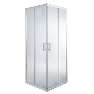 Image of Cooke & Lewis Onega Square Clear Shower Enclosure with Corner entry double sliding door (W)900mm (D)900mm