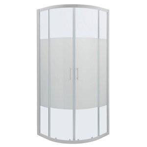Image of Cooke & Lewis Onega Quadrant Frosted effect Shower Enclosure with Corner entry double sliding door (W)900mm (D)900mm