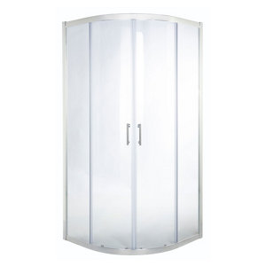 Image of Cooke & Lewis Onega Quadrant Clear Shower Enclosure with Corner entry double sliding door (W)800mm (D)800mm