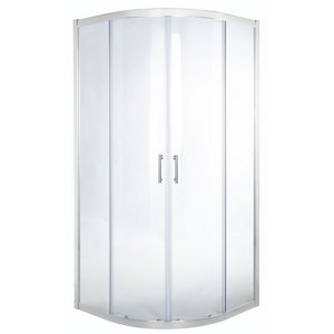 Image of Cooke & Lewis Onega Quadrant Clear Shower Enclosure with Corner entry double sliding door (W)900mm (D)900mm