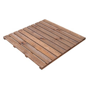 Image of Blooma Benoue Brown Pine Deck tile (L)1m (W)1000mm (T)40mm