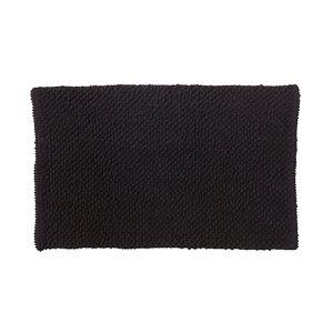 Image of Cooke & Lewis Chanza Black Cotton Dot & Tufty Slip resistant Bath mat (L)800mm (W)500mm