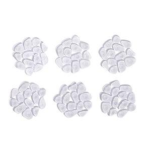 Image of Cooke & Lewis Batumi Transparent Polyvinyl chloride (PVC) Pebble Slip resistant Bath mat (L)120mm (W)120mm