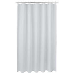 Image of Cooke & Lewis Cecina White Waffle Shower curtain (L)1800mm