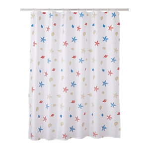 Image of Cooke & Lewis Andrano Multicolour Starfish Shower curtain (L)1800mm