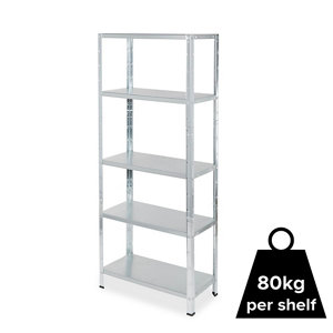 Image of Form Axial 5 shelf Steel Shelving unit (H)1800mm (W)750mm
