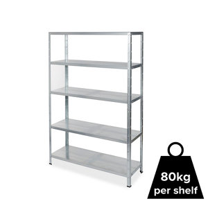 Image of Form Axial 5 shelf Steel Shelving unit (H)1800mm (W)1200mm