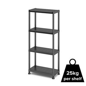 Image of 4 shelf Polypropylene Shelving unit (H)1350mm (W)600mm