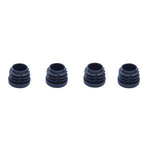 Image of Black Plastic Insert cap (Dia)18mm Pack of 4