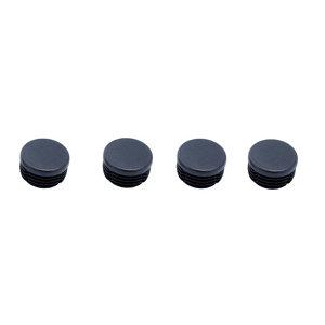 Image of Black Plastic Insert cap (Dia)23mm Pack of 4