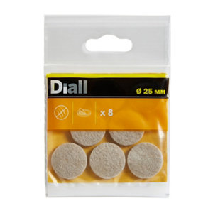Image of Beige Felt Protection pad (Dia)25mm Pack of 8