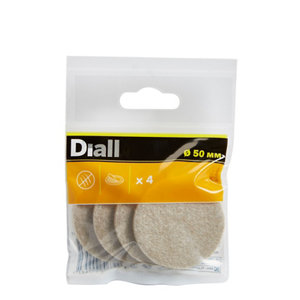 Image of Beige Felt Protection pad (Dia)50mm Pack of 4