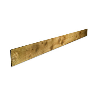 Image of Blooma Pressure treated Timber Feather edge Fence board (L)2.4m (W)150mm (T)11mm Pack of 6