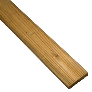 Image of Blooma Madeira Softwood Deck board (L)2.4m (W)120mm (T)24mm Pack of 5