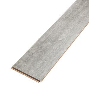 Image of Aberfeldy Grey Gloss Oak effect Laminate Flooring Sample