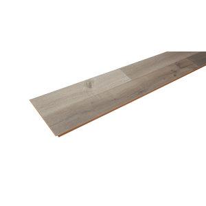 Image of Addington Grey Gloss Oak effect Laminate Flooring Sample