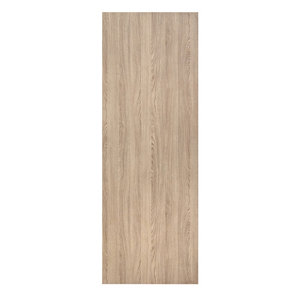 Image of Exmoor Flush Medium-density fibreboard (MDF) Oak veneer Sliding Door (H)2040mm (W)830mm