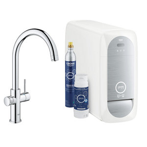 Image of Grohe Blue Home Duo Chrome effect Filtered hot & cold water tap