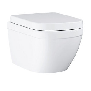 Grohe Euro Contemporary Wall hung Rimless Standard Toilet set with Soft close seat