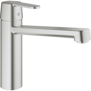 Grohe GET Stainless steel effect Kitchen Mixer tap