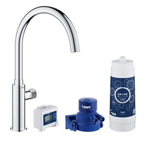 Image of Grohe Blue Pure Chrome effect Filter tap