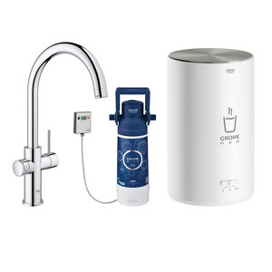 Image of Grohe Red Duo Chrome effect Chrome-plated Water boiler tap