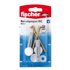 Image of Fischer Toilet Fixing cap kit (L)70mm Pack of 2