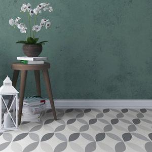 Image of D-C-Fix Grey & white Geometric Tile effect Self adhesive Vinyl tile Pack of 11