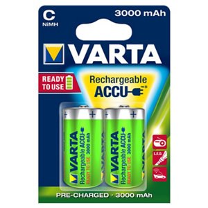 Image of Varta Rechargeable C (LR14) Battery Pack of 2