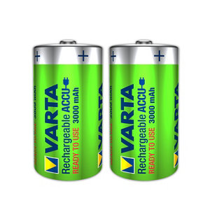 Image of Varta Rechargeable D (LR20) Battery Pack of 2