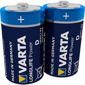 Image of Varta Longlife Power Non-rechargeable D (LR20) Battery Pack of 2