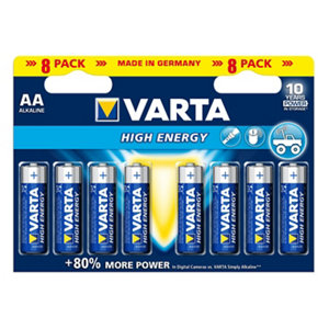 Image of Varta Longlife Power AA Battery Pack of 8