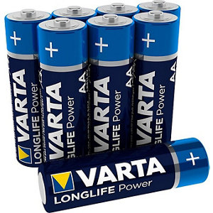 Image of Varta Longlife Power Non-rechargeable AA Battery Pack of 12