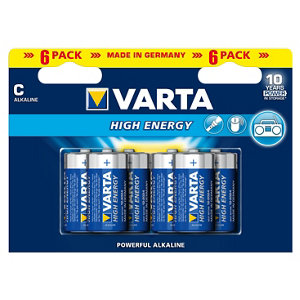 Image of Varta Longlife Power Non rechargeable C (LR14) Battery Pack of 6