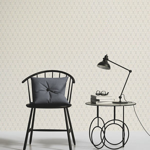 Image of As Creation Bjorn Beige grey & orange Geometric Textured Wallpaper