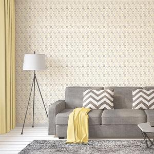 Image of As Creation Bjorn Yellow Geometric Textured Wallpaper