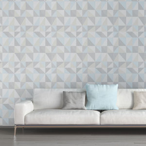 Image of As Creation Bjorn Multicolour Geometric 3D effect Textured Wallpaper