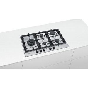 Image of Bosch PCS7A5B90 5 Burner Black Stainless steel Gas Hob