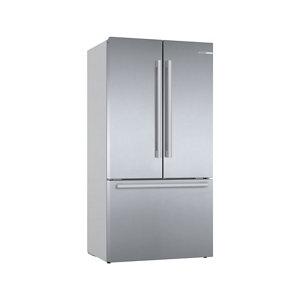 Bosch KFF96PIEP 50:50 American style Silver Freestanding Fridge freezer