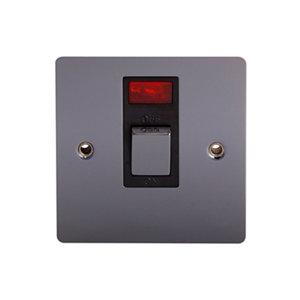 Image of Holder 32A Polished black nickel effect Single Switch