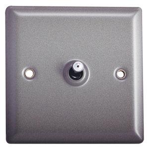 Image of Holder 10A 2 way Matt grey pewter effect Single Toggle Switch