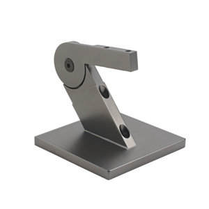Image of Immix Handrail Polished Gun Metal Connector (L)100mm (H)72mm (W)93mm