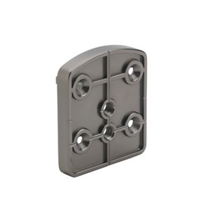 Image of Immix Handrail Polished Gun Metal Connector (L)72mm (H)45mm (W)63mm