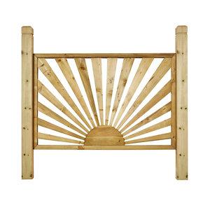 Image of Richard Burbidge Traditional Decorative Pressure treated Trellis panel (W)1.38m (H)1.2m Set of 3