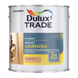 Image of Dulux Trade Clear Gloss Wood varnish 1L