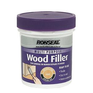 Ronseal Multi purpose Light Ready mixed Wood Filler 250g