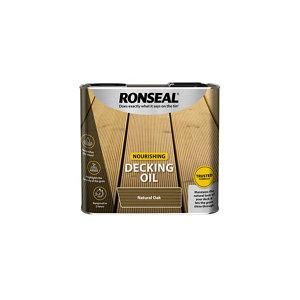 Ronseal Natural oak Matt UV resistant Decking Wood oil  2.5L