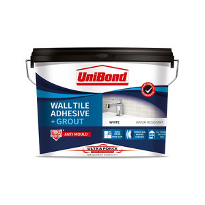 UniBond UltraForce Ready mixed Ice white Tile Adhesive & grout  12.8kg